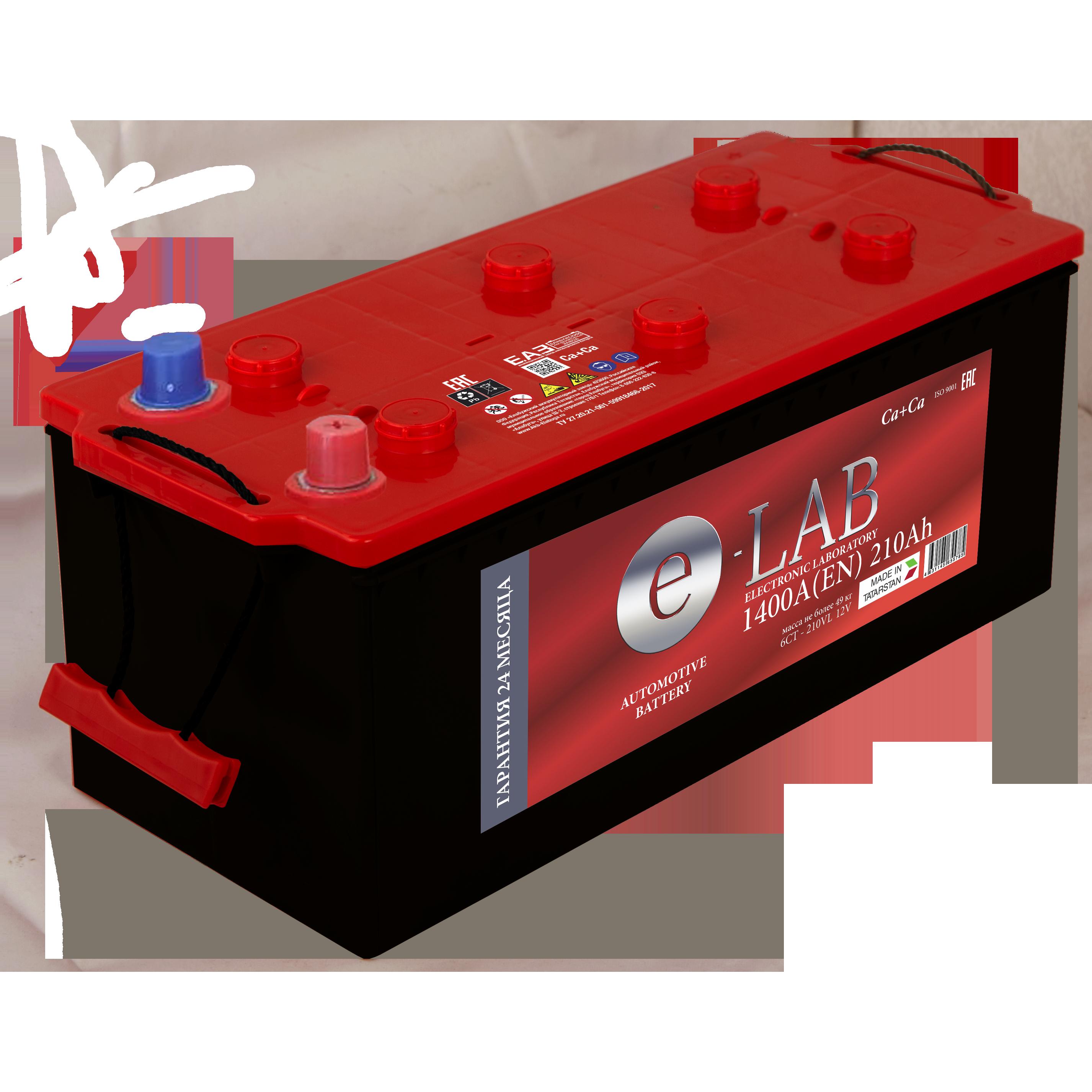 АКБ 6СТ- 210 «E-LAB» п.п.